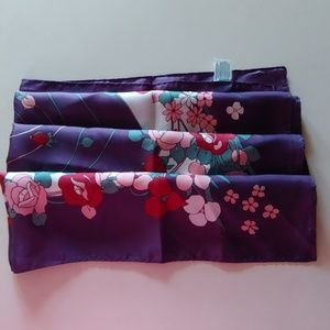 Accessories - Pretty Purple Floral Scarf